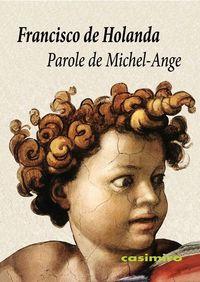 Parole de Michel-Ange: portada