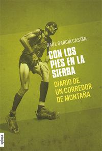 CON LOS PIES EN LA SIERRA: DIARIO DE UN CORREDOR DE MONTAÑA: portada