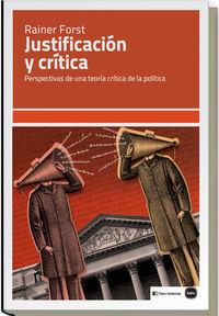 Justificación y crítica: portada