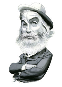 Ilustración Walt Whitman: portada
