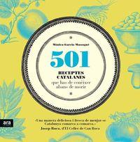 501 RECEPTES CATALANES QUE HAS DE CONÈIXER ABANS DE MORIR: portada