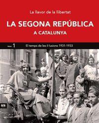 SEGONA REPÚBLICA A CATALUNYA I, LA: portada
