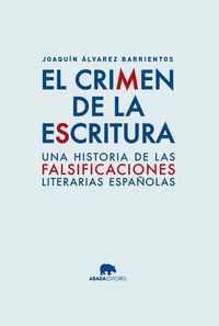 EL CRIMEN DE LA ESCRITURA: portada