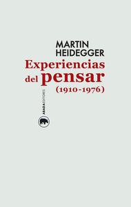 Experiencias del pensar (1910-1976): portada