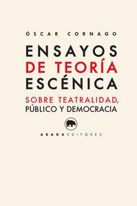 ENSAYOS DE TEORíA ESCéNICA: portada