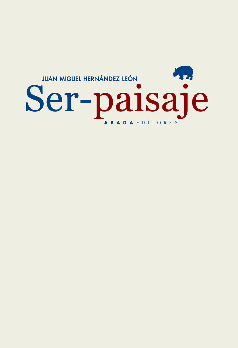 SER-PAISAJE: portada