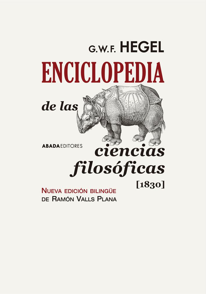 ENCICLOPEDIA DE LAS CIENCIAS FILOSóFICAS [1830]: portada