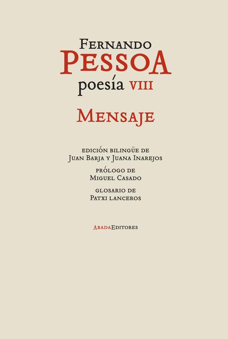 POESíA VIII. MENSAJE: portada