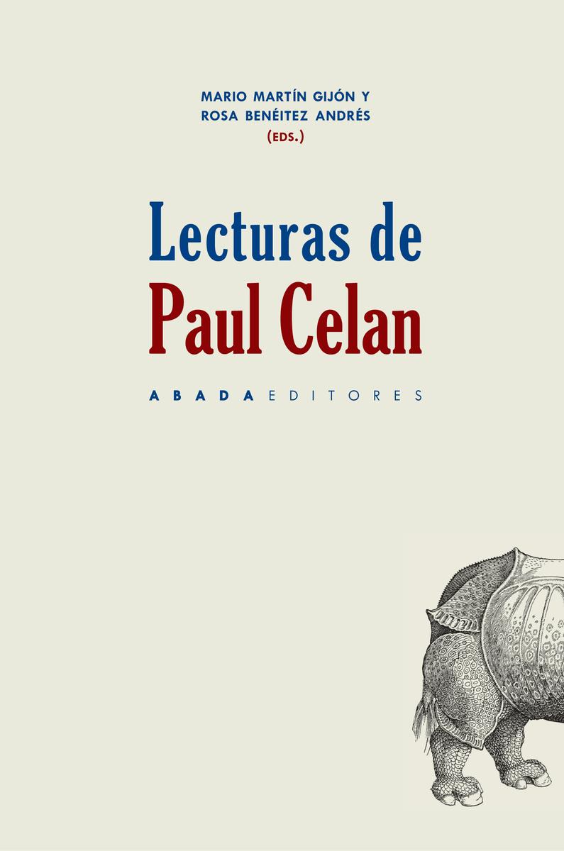 LECTURAS DE PAUL CELAN: portada