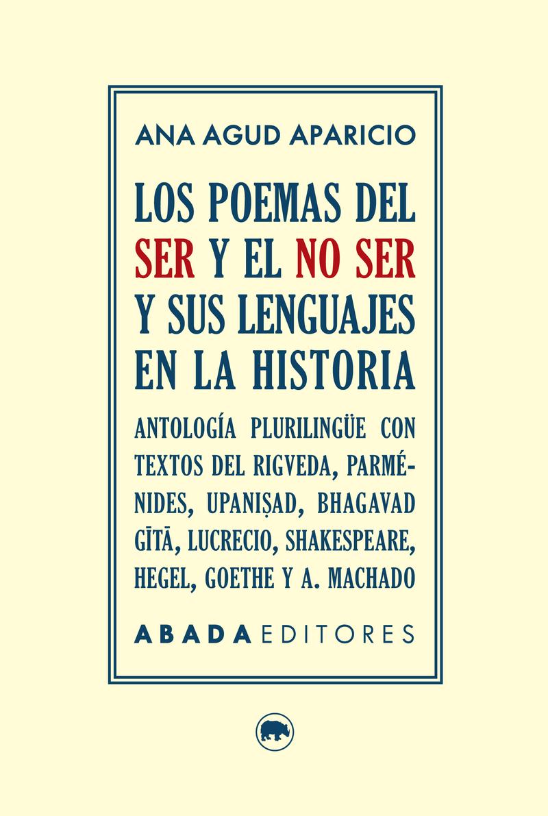 LOS POEMAS DEL SER Y EL NO SER Y SUS LENGUAJES EN LA HISTORI: portada