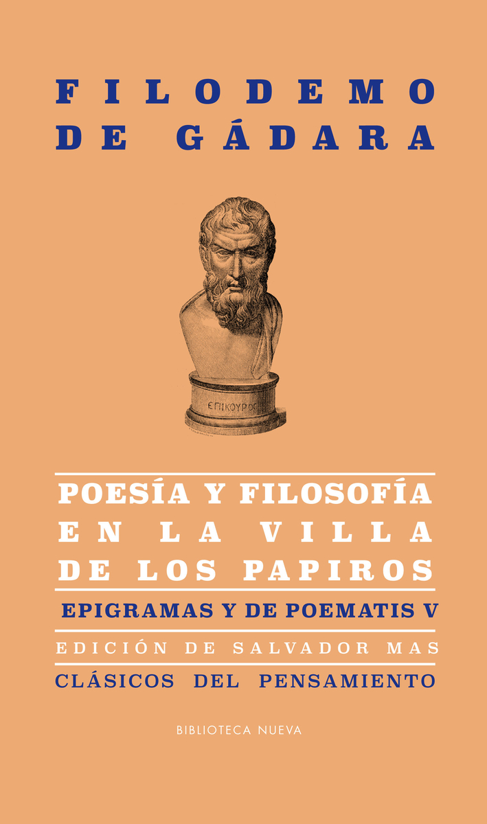 POESÍA Y FILOSOFÍA EN LA VILLA DE LOS PAPIROS: portada