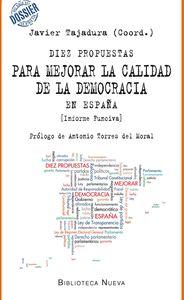 DIEZ PROPUESTAS PARA MEJORAR LA CALIDAD DE DEMOCRACIA EN ESP: portada