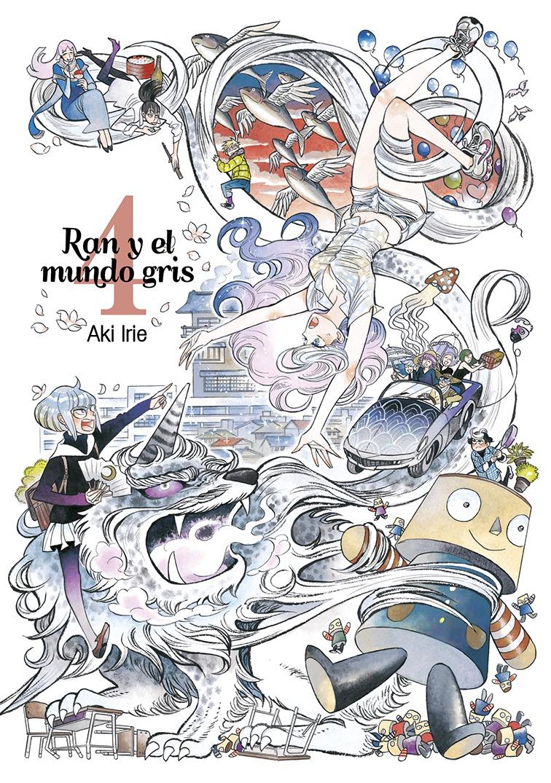 Ran y el mundo gris, vol. 4: portada