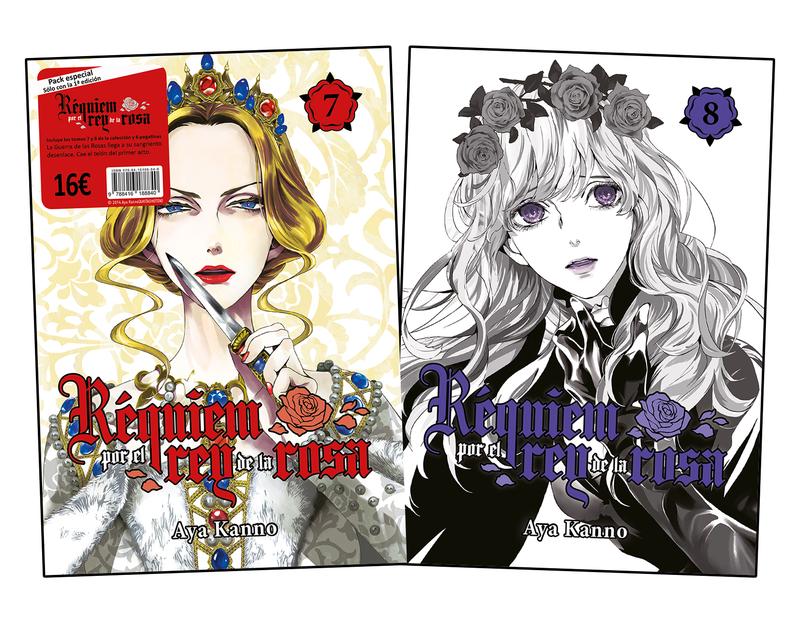 Pack Réquiem por el rey de la rosa, vol. 7 y 8: portada