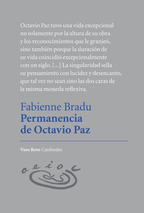 Permanencia de Octavio Paz: portada