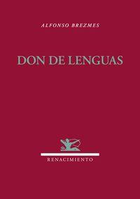 Don de lenguas: portada
