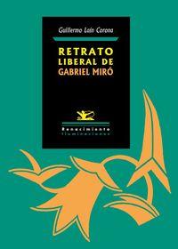 Retrato liberal de Gabriel Miró: portada