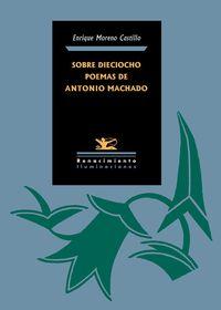 SOBRE DIECIOCHO POEMAS DE ANTONIO MACHADO: portada