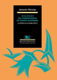 Diálogos del conocimiento de Vicente Aleixandre: portada