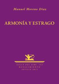 Armonía y estrago: portada
