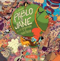 PABLO & JANE EN LA DIMENSIÓN DE LOS MONSTRUOS: portada