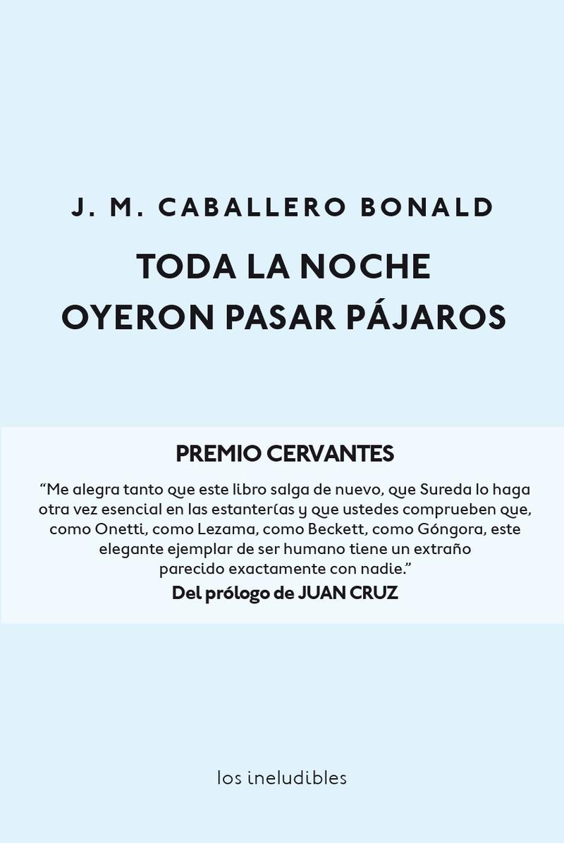 TODA LA NOCHE OYERON PASAR PÁJAROS: portada