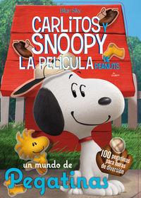 Un mundo de pegatinas - Carlitos y Snoopy: portada