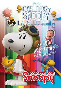 COLOREA CON SNOOPY + 100 PEGATINAS -  Carlitos y Snoopy: portada