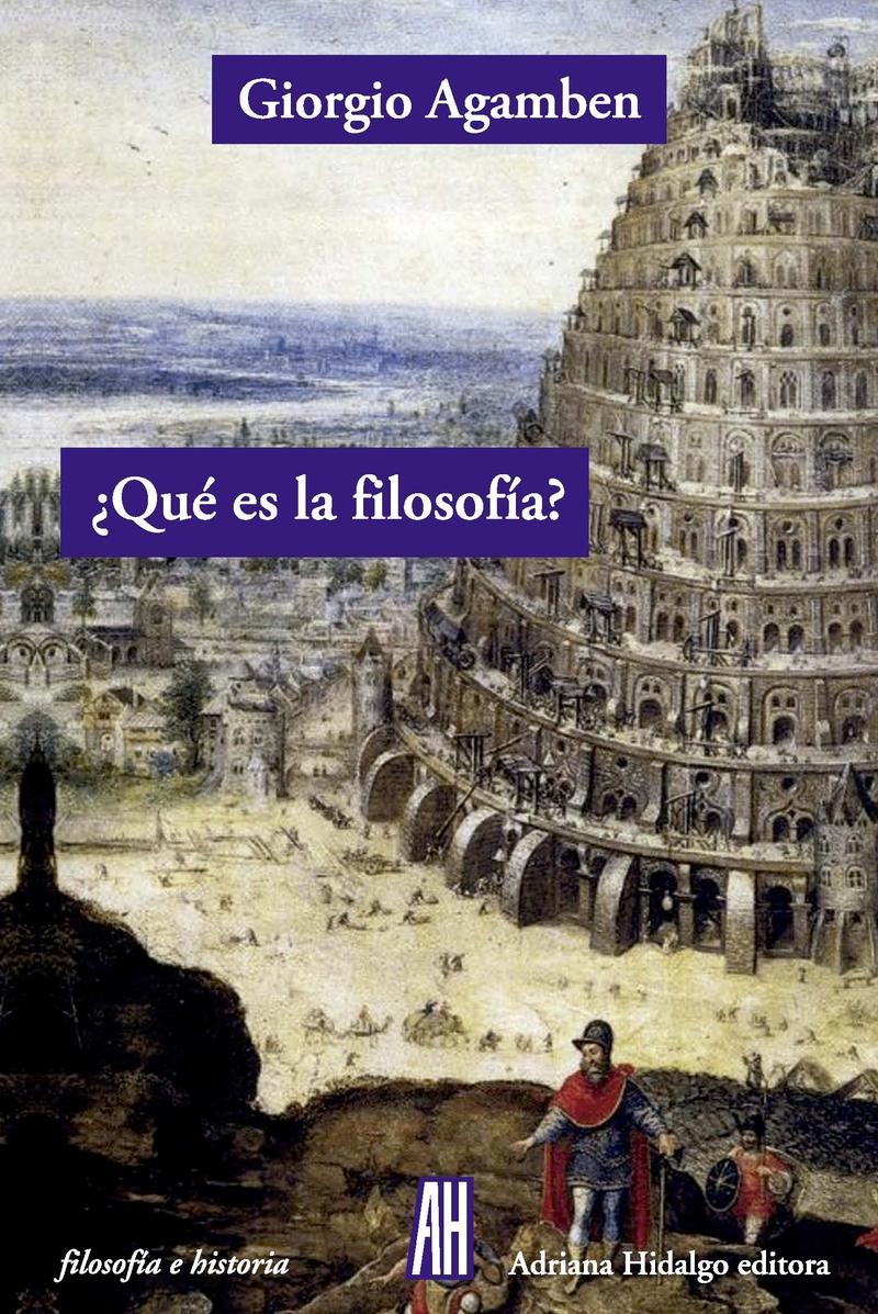 ¿Qué es la filosofía?: portada