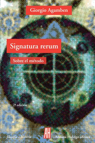 Signatura rerum. Sobre el método.: portada