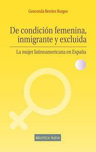 DE CONDICIÓN FEMENINA, INMIGRANTE Y EXCLUIDA: portada