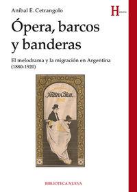 OPERA, BARCOS Y BANDERAS: portada