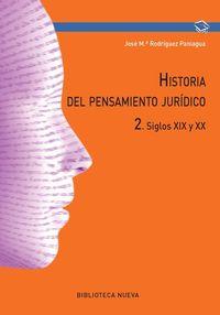 HISTORIA DEL PENSAMIENTO JURÍDICO 2: portada
