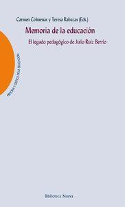 MEMORIA DE LA EDUCACIÓN: portada