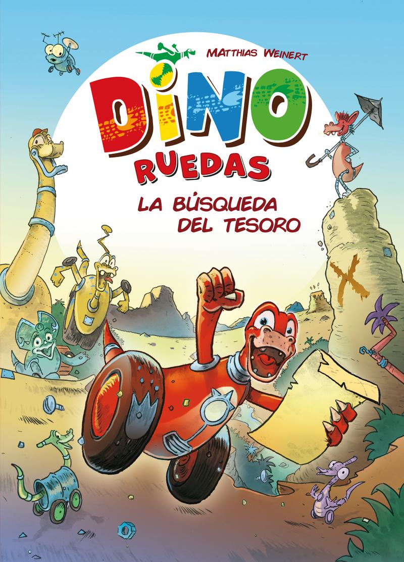 Dino Ruedas 1: La búsqueda del tesoro: portada