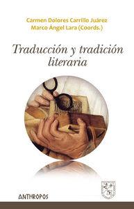 TRADUCCI�N Y TRADICI�N LITERARIA: portada