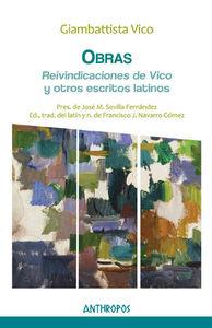 OBRAS IV REIVINDICACIONES DE VICO Y OTROS ESCRITOS LATINOS: portada