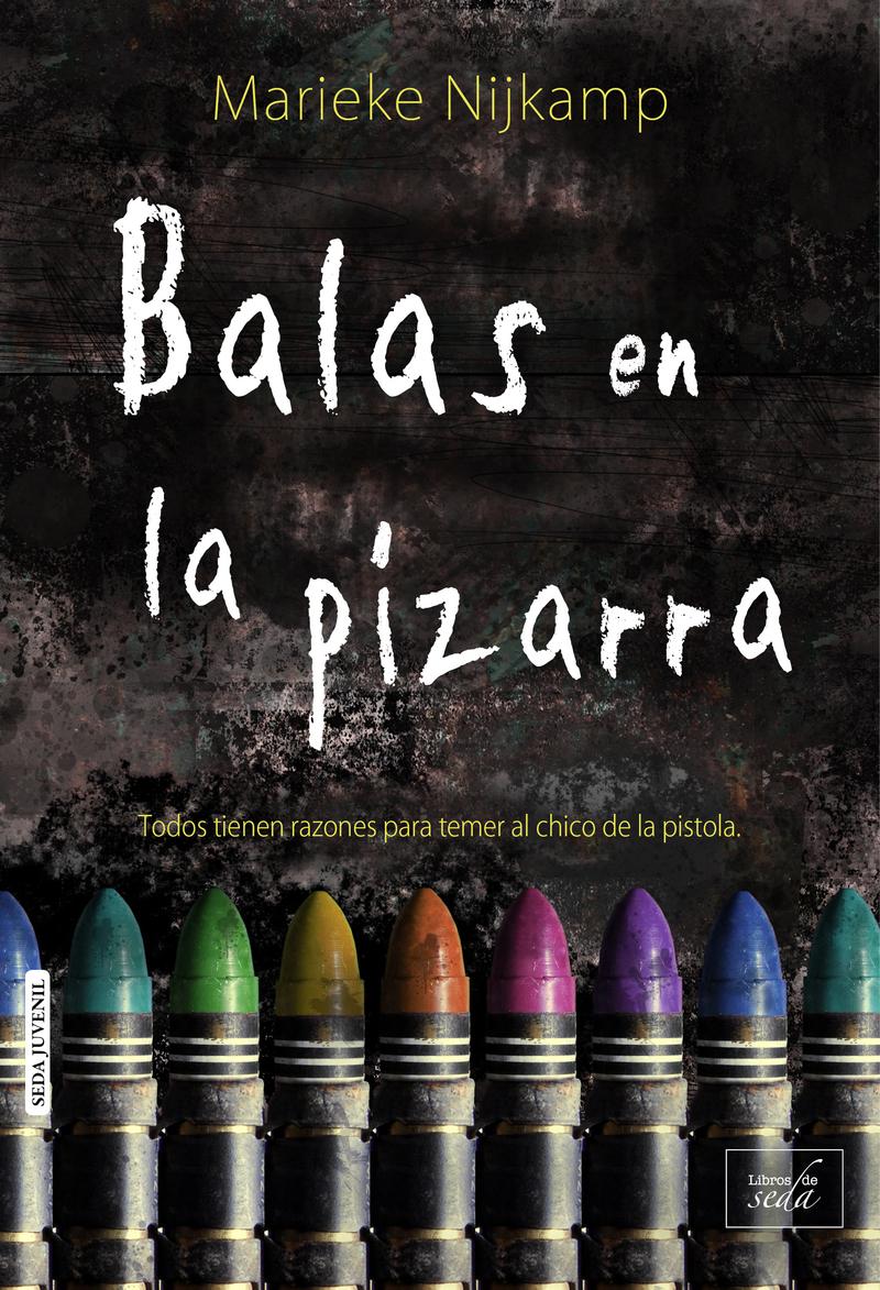 BALAS EN LA PIZARRA: portada