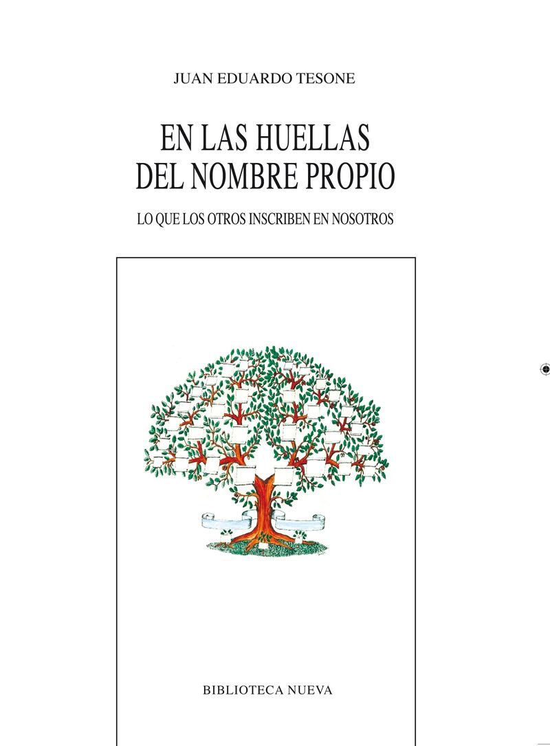 EN LAS HUELLAS DEL NOMBRE PROPIO: portada
