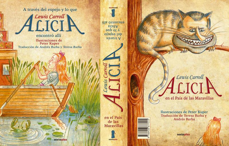 Alicia en el País de las Maravillas / A través del espejo: portada