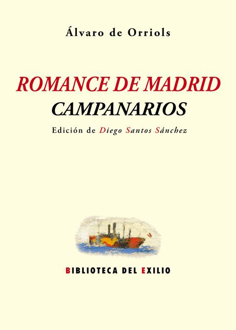 Romance de Madrid. Campanarios: portada