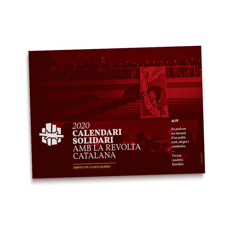 Calendari 2020 Solidari amb la revolta catalana: portada