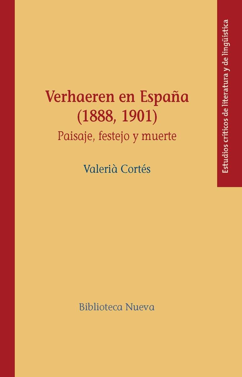 VERHAEREN EN ESPAÑA (1888, 1901): portada