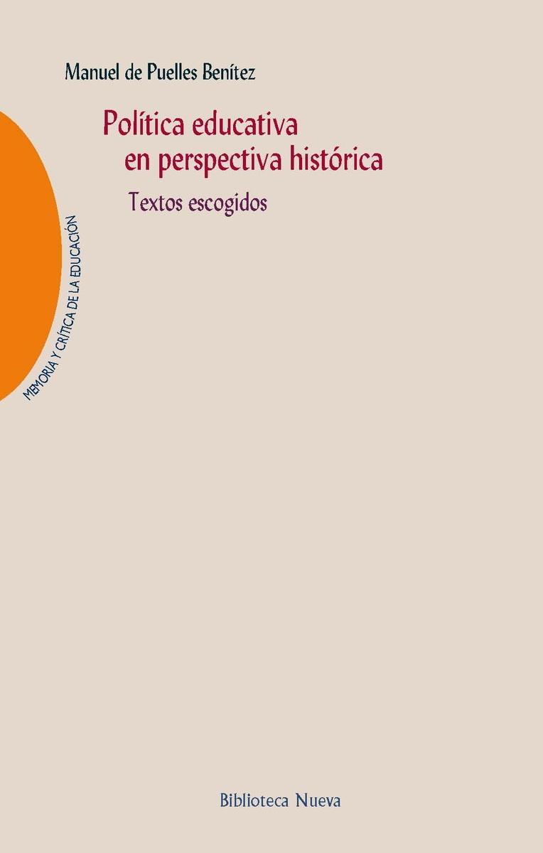 POLÍTICA EDUCATIVA EN PERSPECTIVA HISTÓRICA: portada