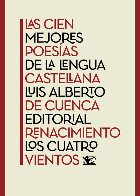 Las cien mejores poesías de la lengua castellana: portada