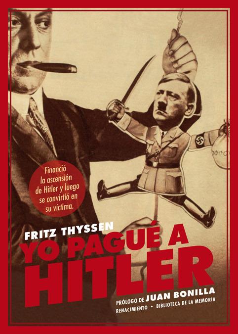 Yo pagué a Hitler: portada