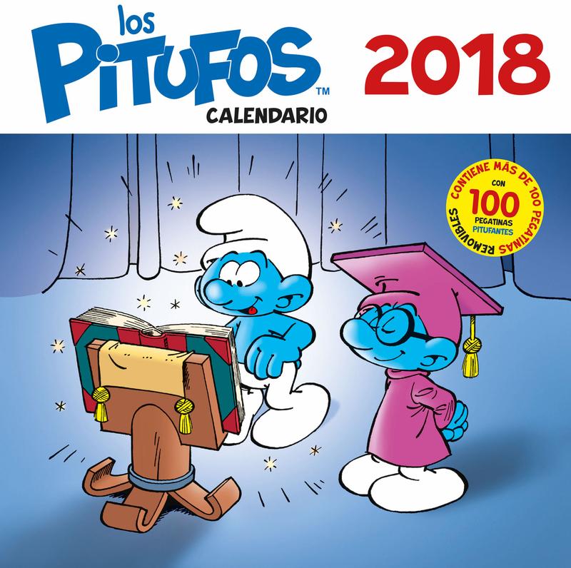 Los Pitufos. Calendario 2018: portada