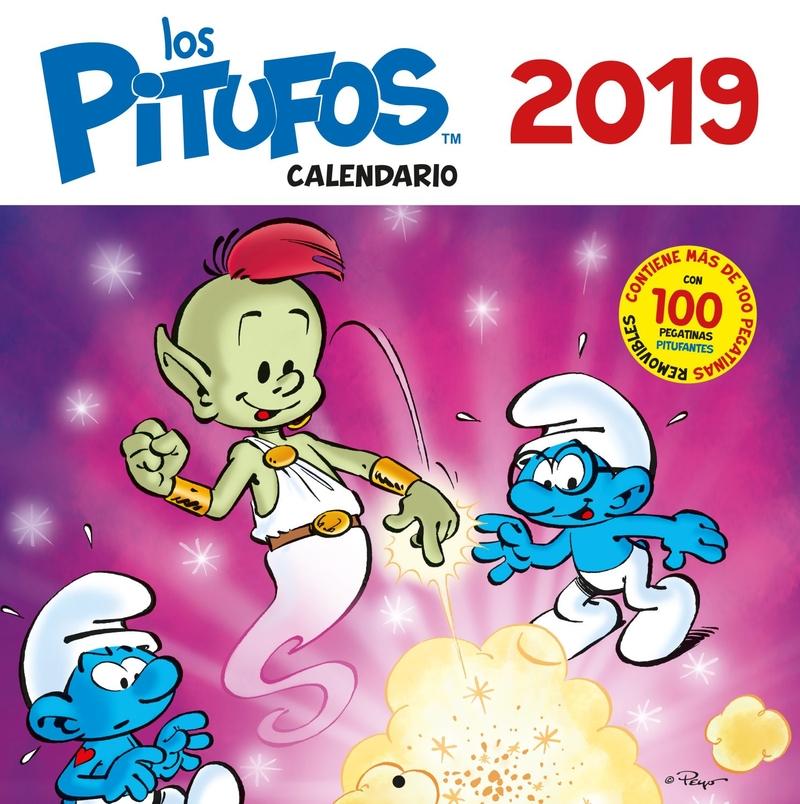CALENDARIO LOS PITUFOS 2019: portada