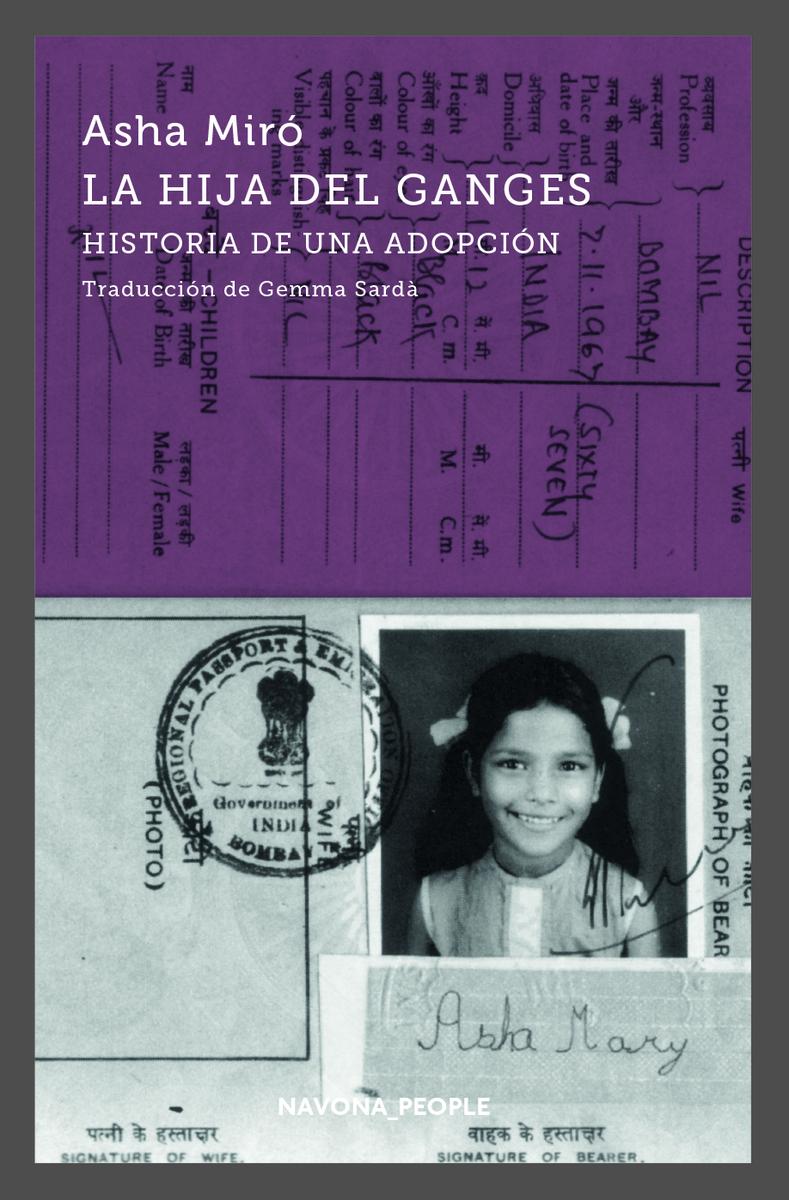 La hija del Ganges. Historia de una adopción: portada
