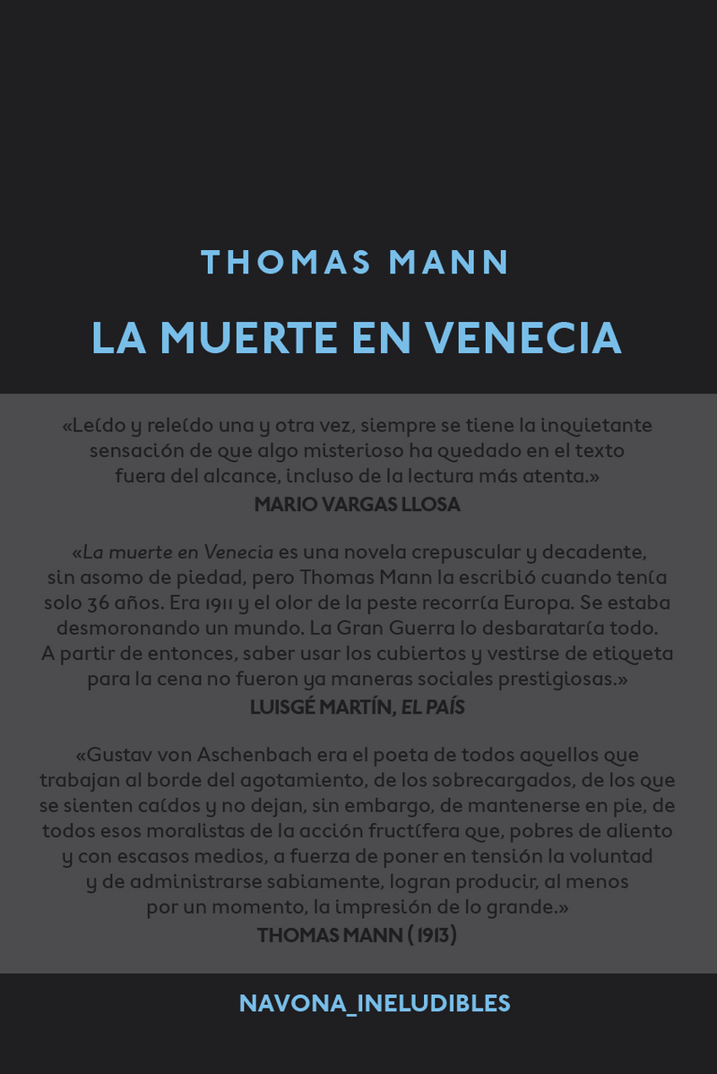 La muerte en venecia: portada